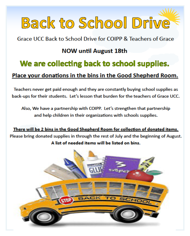 back to school drive 08 2019