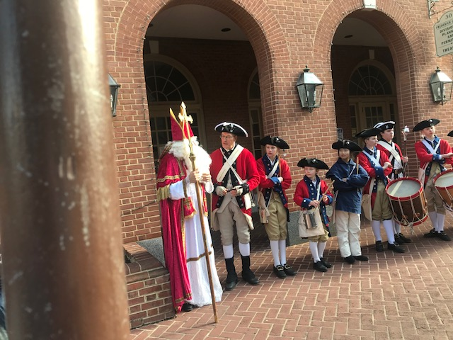 St. Nick with fife and drum corp.jpg