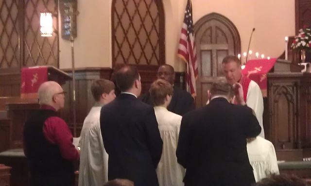 Blessing of confirmands