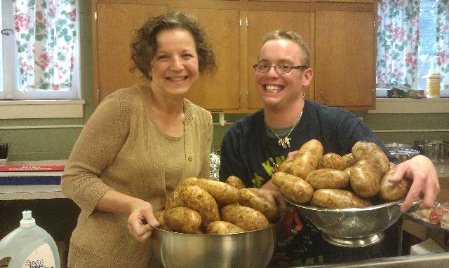 Karla Joey and potatoes